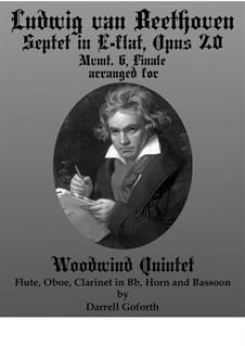 Септет для духовых и струнных, Op.20: Movement VI. Arranged for woodwind quintet by Людвиг ван Бетховен