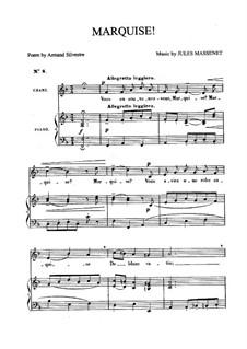 Маркиза: Для среднего голоса и фортепиано by Жюль Массне