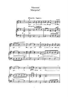 Маркиза: Для высокого голоса и фортепиано by Жюль Массне