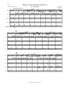 Сюита II: Minuet, for cello quartet by Жорж Бизе