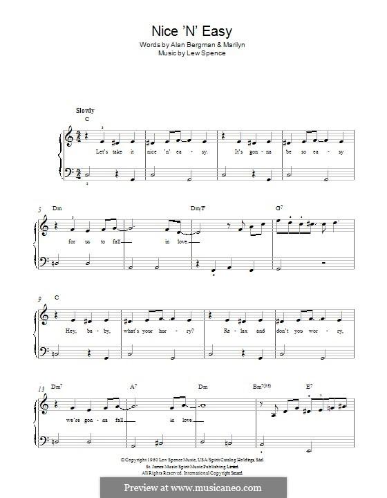 Nice 'n' Easy (Frank Sinatra): Для фортепиано by Alan Bergman, Lew Spence, Marilyn Bergman