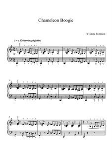 Chameleon Boogie - Grade 3 Piano Solo: Chameleon Boogie - Grade 3 Piano Solo by Yvonne Johnson