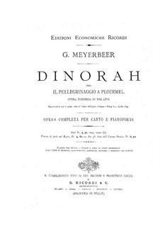 Динора, или паломничество в Плоэрмель: Увертюра by Джакомо Мейербер