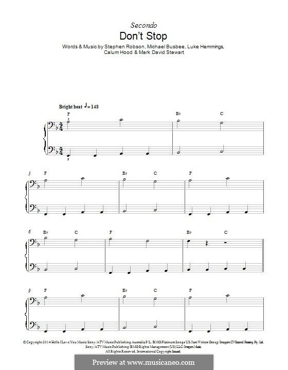 Don't Stop (5 Seconds of Summer): Для фортепиано by Busbee, Steve Robson, Calum Hood, Luke Hemmings