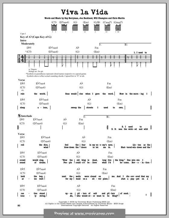 Instrumental version: Гитарная табулатура by Chris Martin, Guy Berryman, Jonny Buckland, Will Champion