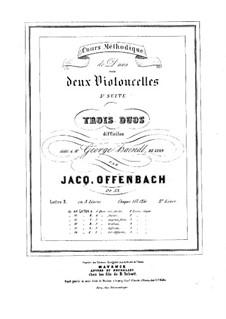 Дуэты для двух виолончелей, Op.53: Дуэт No.2 – партии by Жак Оффенбах
