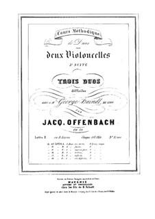 Дуэты для двух виолончелей, Op.53: Дуэт No.3 – партии by Жак Оффенбах