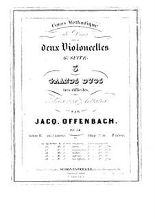 Дуэты для двух виолончелей, Op.54: Дуэт No.1 – партии by Жак Оффенбах