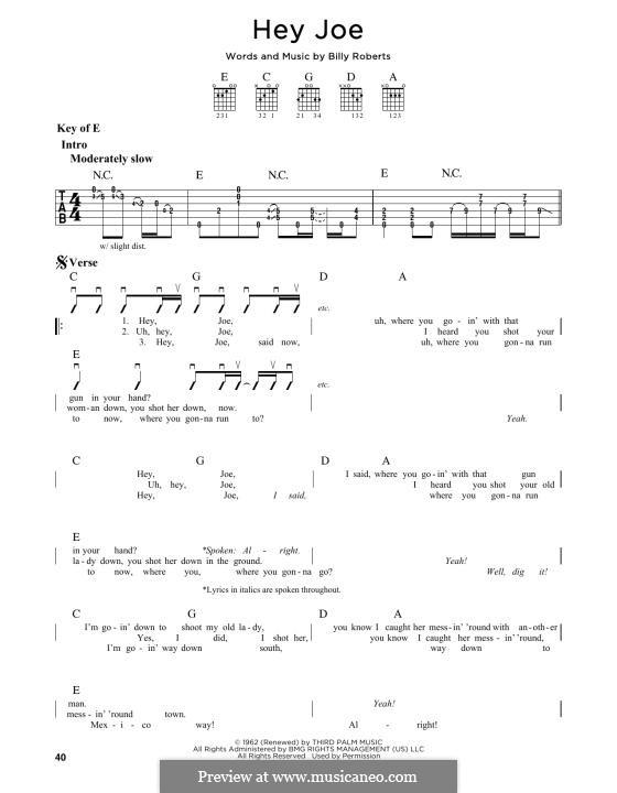 Hey Joe: Для гитары by Billy Roberts