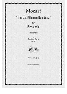 The Six Milanese Quartets, K.155/160: Piano version by Вольфганг Амадей Моцарт