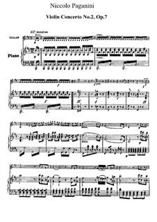 Концерт для скрипки с оркестром No.2 си минор, Op.7: Версия для скрипки и фортепиано by Никколо Паганини