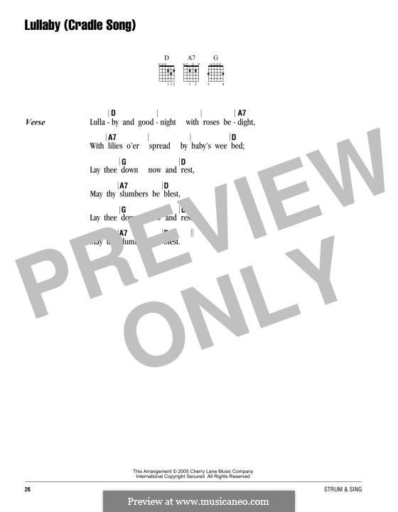 No.4 Колыбельная: Текст, аккорды by Иоганнес Брамс