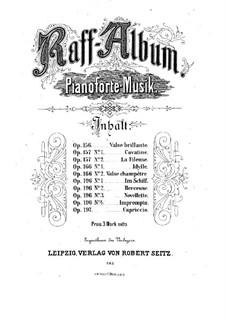 Две пьесы для фортепиано, Op.157: No.1 Каватина by Иоахим Рафф