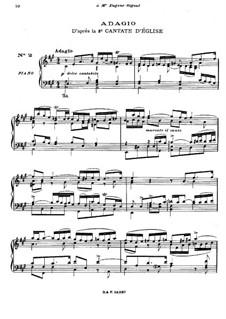 О, Боже, какие сердечные страдания, BWV 3: Адажио. Переложение для фортепиано by Иоганн Себастьян Бах