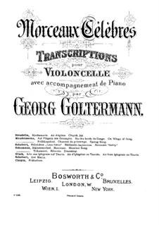 No.7 Грезы: Для виолончели и фортепиано – партитура, сольная партия by Роберт Шуман