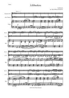 Lilliburlero: For clarinet, alto clarinet and piano by folklore