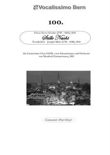 Тихая ночь (ноты для скачивания): For chamber orchestra, GCB by Франц Ксавьер Грубер