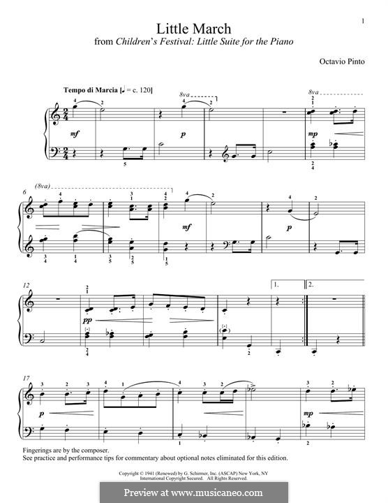 Little March: Для фортепиано by Octavio Pinto