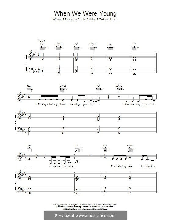 When We Were Young: Для голоса и фортепиано (или гитары) by Adele, Tobias Jesso