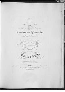 Гретхен за прялкой, D.118 Op.2: Переложение для фортепиано, S.558 No.8 by Франц Шуберт