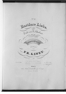 Неутомимая любовь, D.138 Op.5 No.1: Для фортепиано, S.558 No.10 by Франц Шуберт