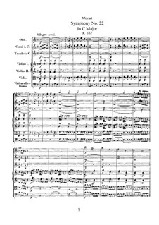 Симфония No.22 до мажор, K.162: Симфония No.22 до мажор by Вольфганг Амадей Моцарт