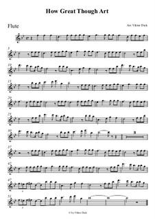 Великий Бог, когда на мир смотрю я: Для флейты by folklore