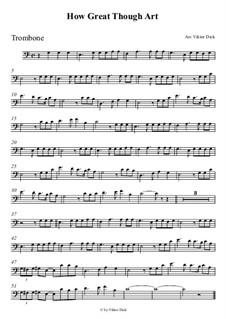 Великий Бог, когда на мир смотрю я: Для тромбона by folklore