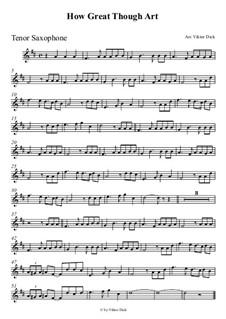 Великий Бог, когда на мир смотрю я: Для саксофона тенора by folklore