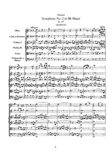 Симфония No.2 си-бемоль мажор, K.17: Симфония No.2 си-бемоль мажор by Вольфганг Амадей Моцарт