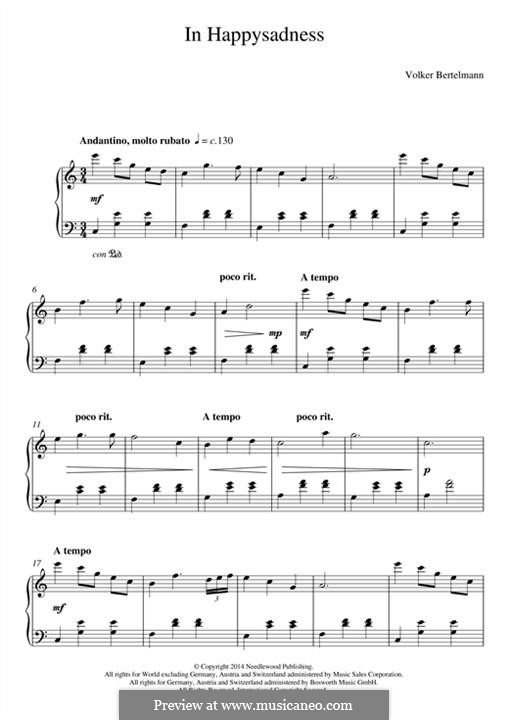 In Happysadness (Hauschka): Для фортепиано by Volker Bertelmann