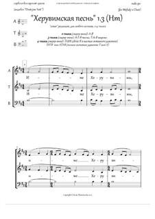 Херувимская песнь (1.3, +Ектения, пдб 'Dostojno Yest', Hm, 2-6 голосов, люб.состав) - RU: Херувимская песнь (1.3, +Ектения, пдб 'Dostojno Yest', Hm, 2-6 голосов, люб.состав) - RU by Unknown (works before 1850)