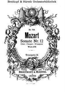 Церковная соната для оркестра No.14 до мажор, K.278: Партия II трубы by Вольфганг Амадей Моцарт