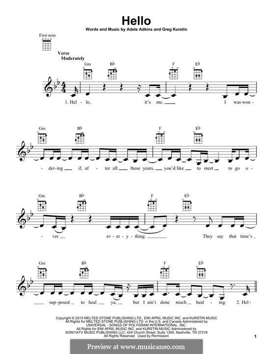Hello: Для укулеле by Adele, Greg Kurstin
