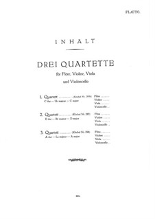 Три квартета для флейты и струнных, K.285b, 285, 298: Партия флейты by Вольфганг Амадей Моцарт