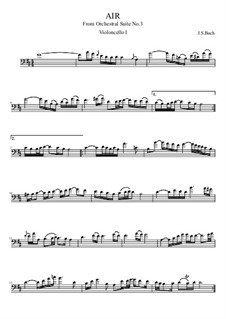 Ария и Гавот: Version for four cellos by Иоганн Себастьян Бах