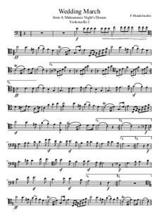 Свадебный марш: For four cellos by Феликс Мендельсон-Бартольди