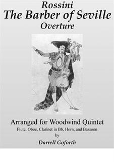 Севильский цирюльник: Overture, for woodwind quintet (in F) by Джоаккино Россини