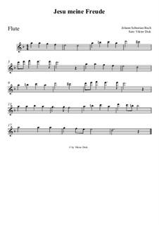 Jesu, meine Freude, BWV 227: Für Flöte by Иоганн Себастьян Бах