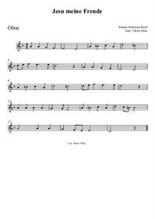 Jesu, meine Freude, BWV 227: Für Oboe by Иоганн Себастьян Бах