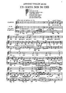 Un certo non so che: For soprano and piano by Антонио Вивальди