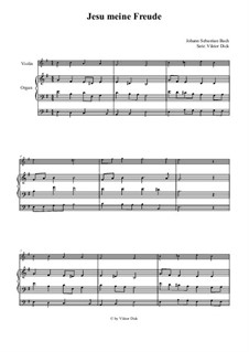 Jesu, meine Freude, BWV 227: Für Violine und Orgel by Иоганн Себастьян Бах