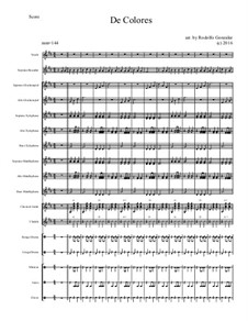 De Colores: For elementary mariachi orff ensemble by folklore