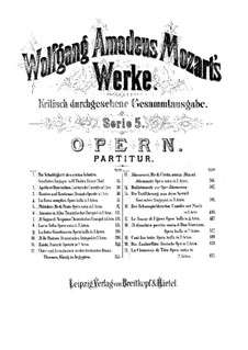 Царь-пастух, K.208: Акт I by Вольфганг Амадей Моцарт