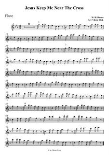 У Креста хочу стоять: Для флейты by William Howard Doane