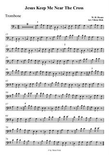 У Креста хочу стоять: Для тромбона by William Howard Doane