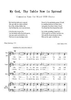 My God, thy table now is spread: SATB by Joan Yakkey