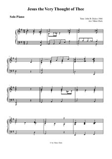 Jesus! The Very Thought of Thee: For solo piano by John Bacchus Dykes