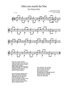 Alles neu macht der Mai: For guitar solo (C Major) by folklore