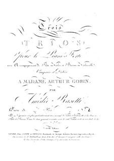 Трио для флейты (или скрипки), виолончели (или фагота) и фортепиано No.2, Op.13: Партитура by Амедей Разетти